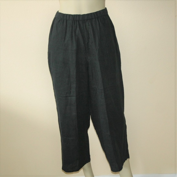 87237e4499 Flax Pants | Jeanne Engelhart Black Linen Capri | Poshmark